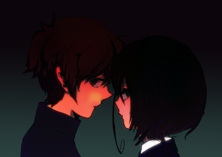 Another Image #1263090 - Zerochan Anime Image Board Another Kouichi And Misaki