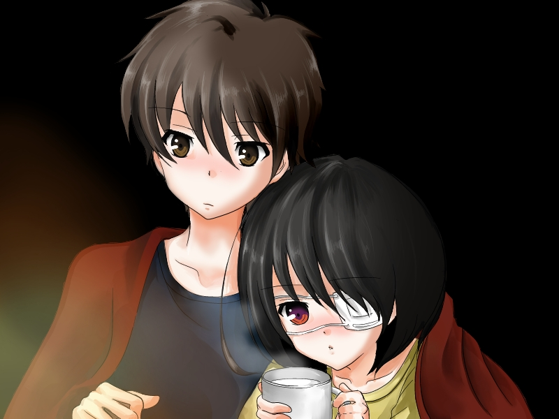 Another Image #1263102 - Zerochan Anime Image Board Another Kouichi And Misaki
