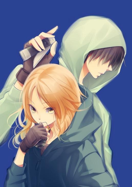 Tags: Anime, Pixiv Id 7041514, Ansatsu Kyoushitsu, Chiba Ryuunosuke, Hayami Rinka, Grenade, Pixiv, Fanart, Mobile Wallpaper, Fanart From Pixiv, Assassination Classroom