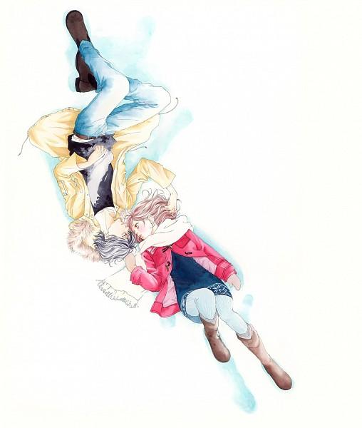 Tags: Anime, Sakisaka Io, Ao Haru Ride, Yoshioka Futaba, Mabuchi Kou, Tunic, Jeans