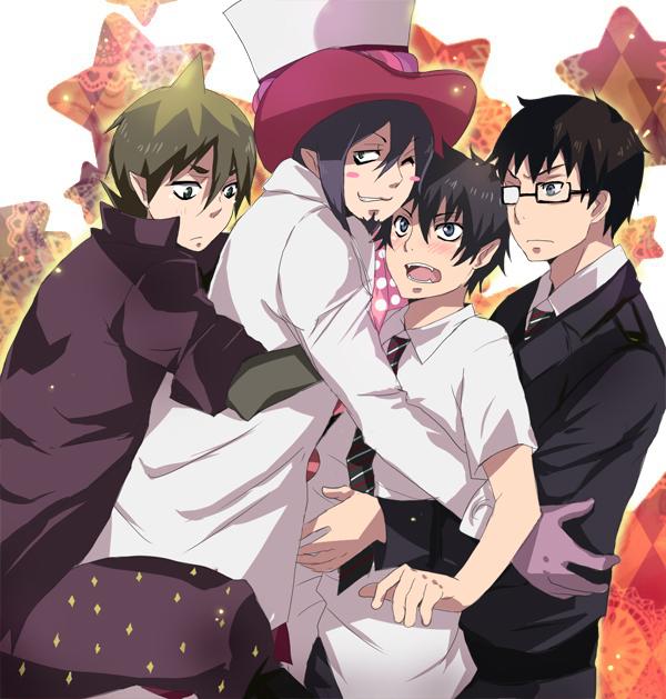 Tags: Anime, Pixiv Id 341007, Ao no Exorcist, Mephisto Pheles, Amaimon, Okumura Yukio, Okumura Rin, Blue Exorcist