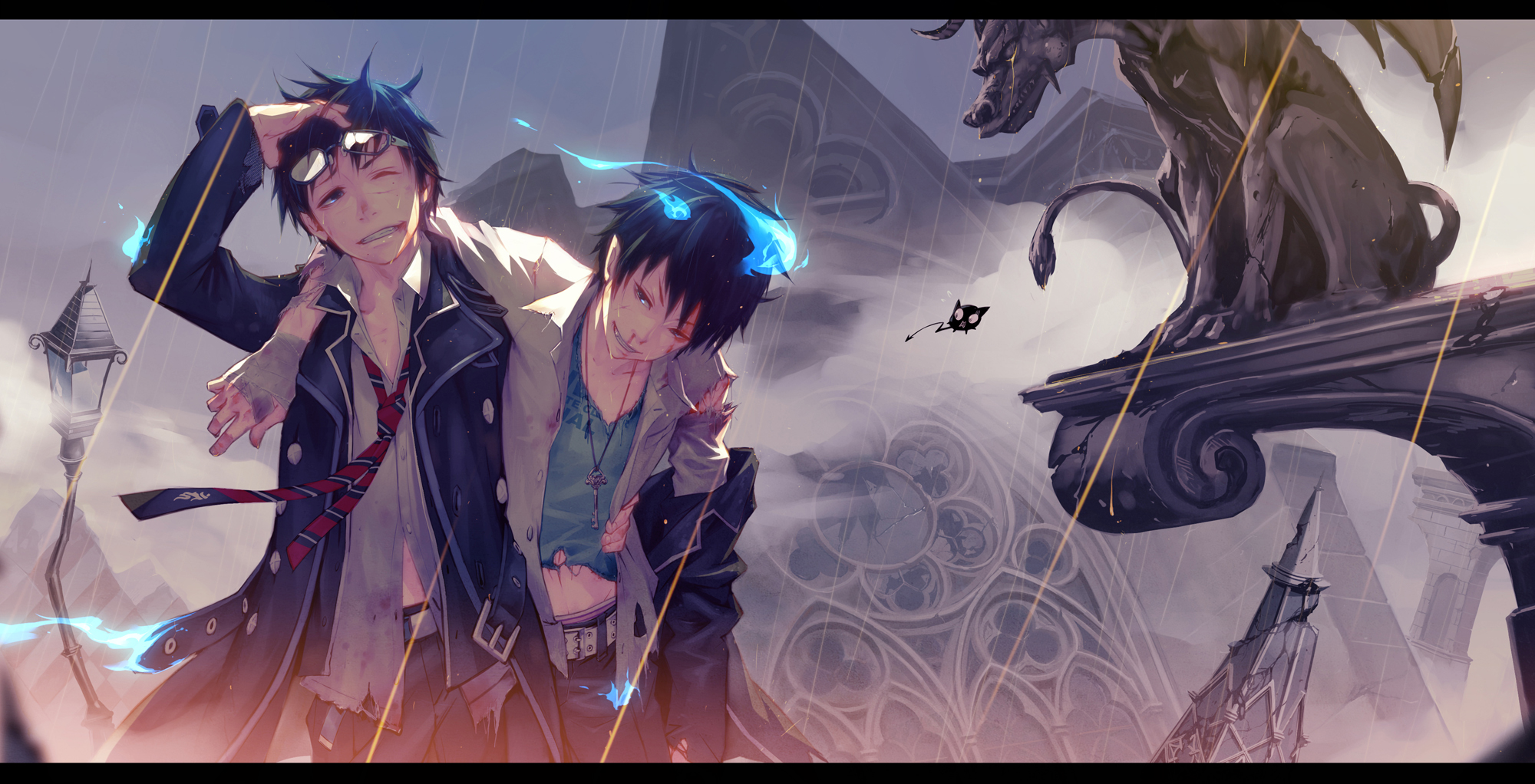 Ao no exorcist blue exorcist wallpaper zerochan anime - Blue anime wallpaper ...