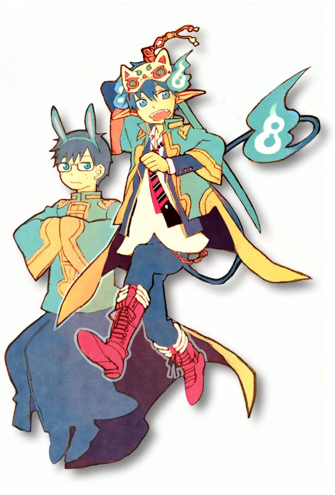 Tags: Anime, Pixiv Id 3498889, Ao no Exorcist, Okumura Yukio, Okumura Rin, Pixiv, Fanart From Pixiv, Fanart, Mobile Wallpaper, Blue Exorcist