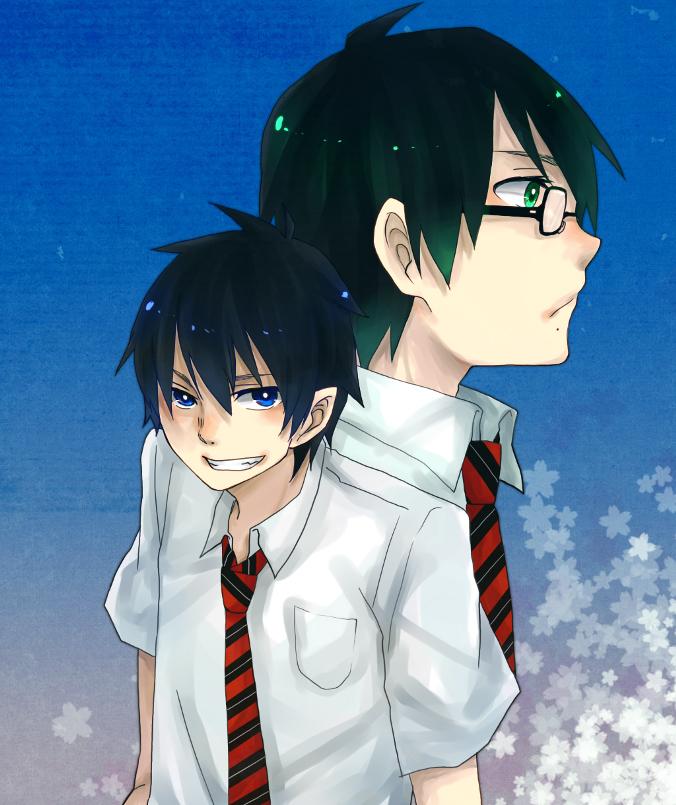 Tags: Anime, Pixiv Id 264156, Ao no Exorcist, Okumura Yukio, Okumura Rin, Pixiv, Blue Exorcist