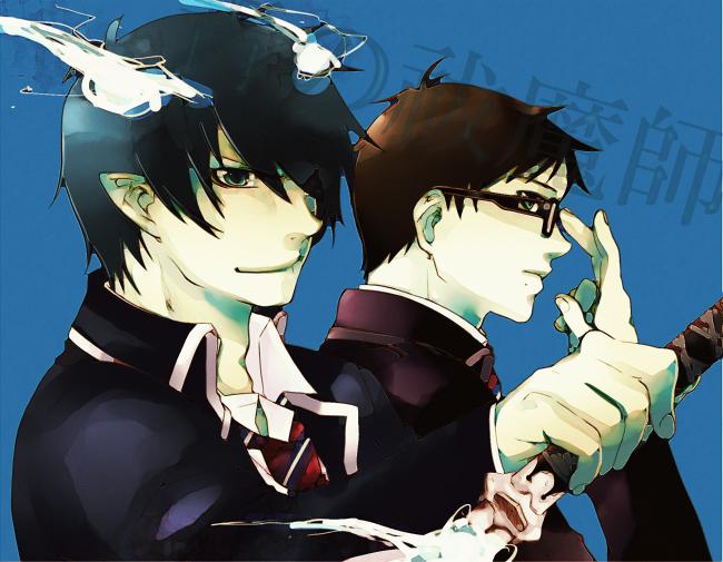 Tags: Anime, Pixiv Id 2350329, Ao no Exorcist, Okumura Yukio, Okumura Rin, Pixiv, Blue Exorcist