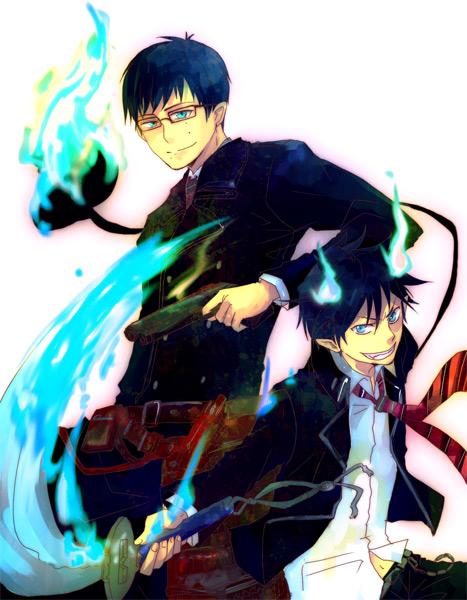 Tags: Anime, Meltdown0802, Ao no Exorcist, Okumura Yukio, Okumura Rin, Pixiv, Blue Exorcist