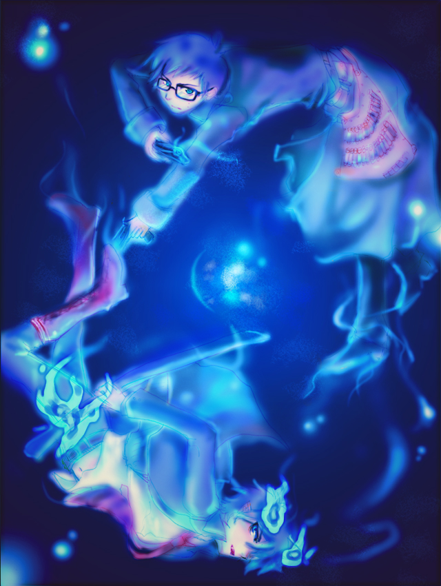 Tags: Anime, Ao no Exorcist, Okumura Yukio, Okumura Rin, Blue Exorcist