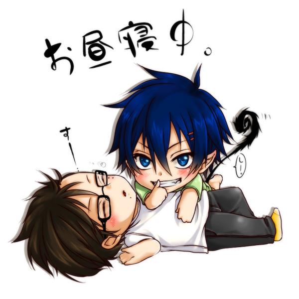 Tags: Anime, Pixiv Id 1856606, Ao no Exorcist, Okumura Yukio, Okumura Rin, Pixiv, Fanart, Blue Exorcist