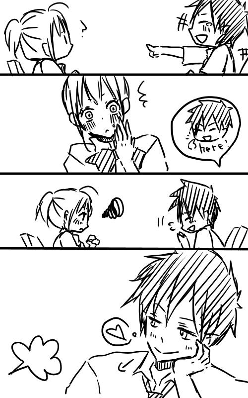 Tags: Anime, Ao no Exorcist, Moriyama Shiemi, Okumura Rin, Comic, Mobile Wallpaper, RinShi, Blue Exorcist