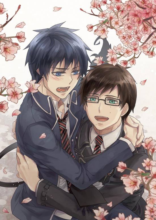 Tags: Anime, Kome Kako, Ao no Exorcist, Okumura Rin, Okumura Yukio, Mobile Wallpaper, Pixiv, Fanart, Blue Exorcist