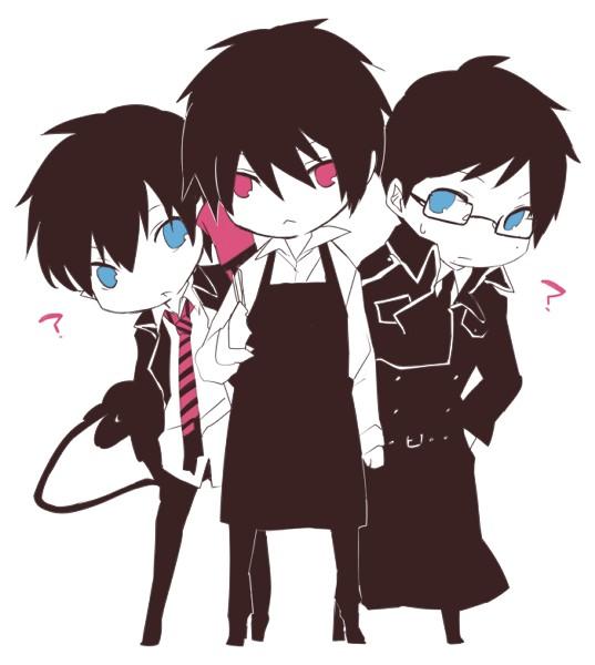 Tags: Anime, Zakka, The Miyama-Uguisu Mansion Incident, Ao no Exorcist, Okumura Yukio, Night (The Miyama-Uguisu Mansion Incident), Okumura Rin, PNG Conversion, Blue Exorcist