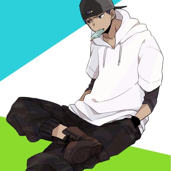 Tags: Anime, Pixiv Id 1034630, Kuroko no Basuke, Aomine Daiki, Fanart From Pixiv, Pixiv, Fanart, Kiseki no Sedai, Touou High