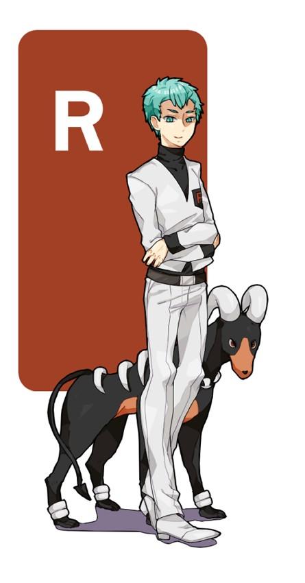 Tags: Anime, Pixiv Id 256746, Pokémon, Apollo (Pokémon), Houndoom, Pixiv