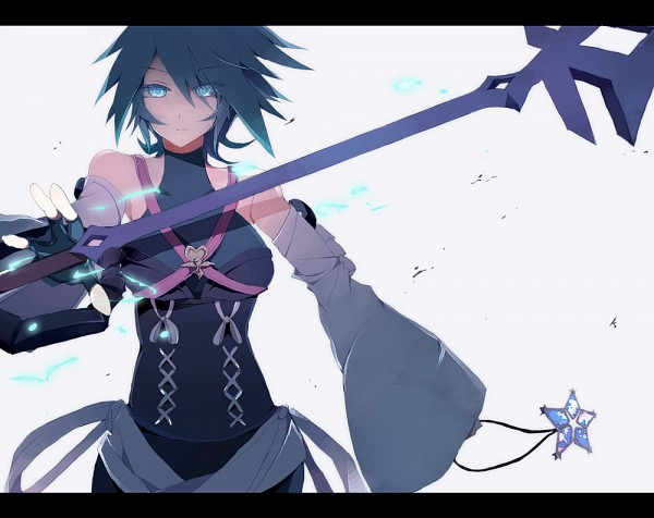Tags: Anime, Hynxxxko, Kingdom Hearts, Kingdom Hearts: Birth by Sleep, Aqua (Kingdom Hearts), Black Border, Keyblade