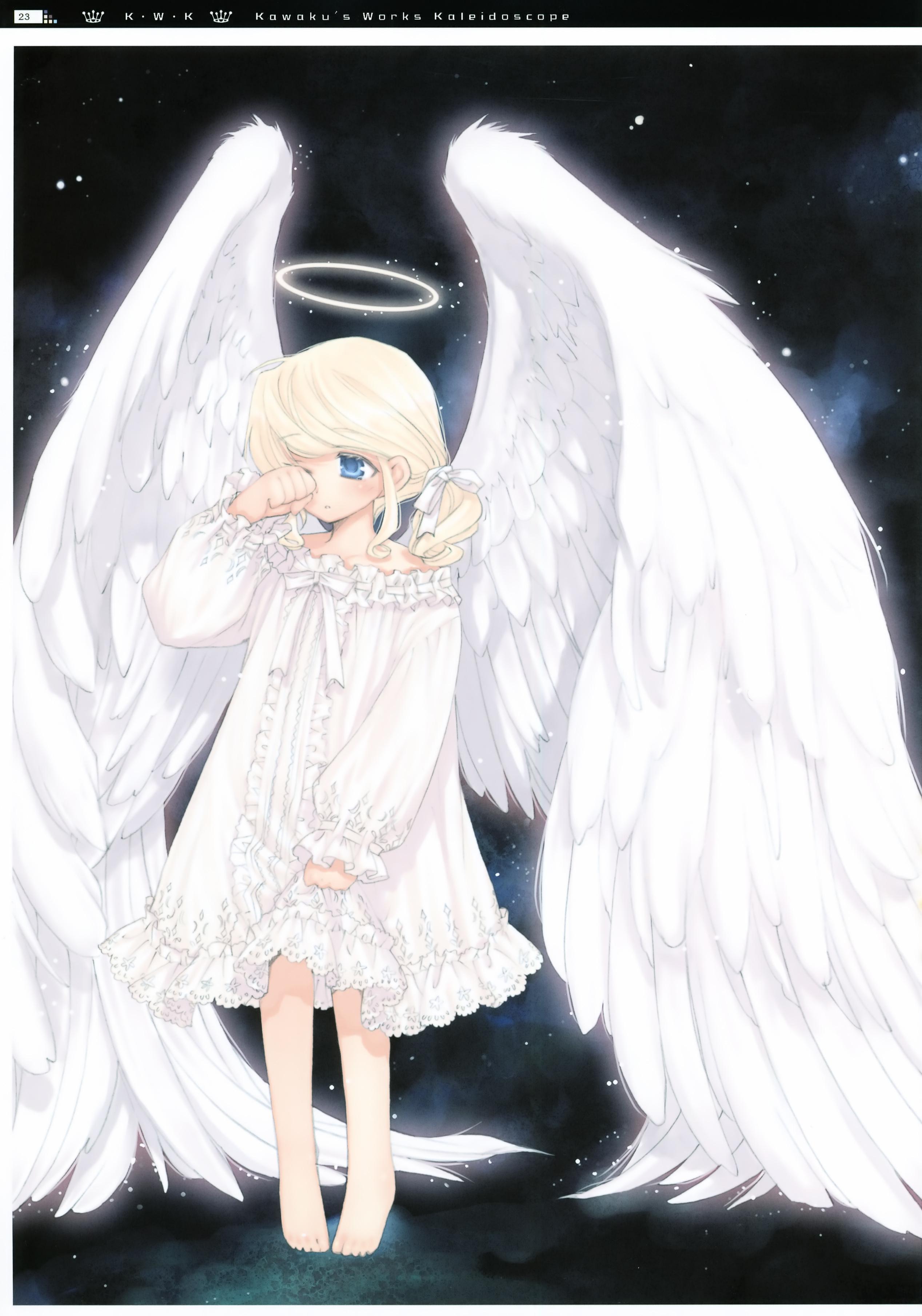 Арты аниме девочек ангелов