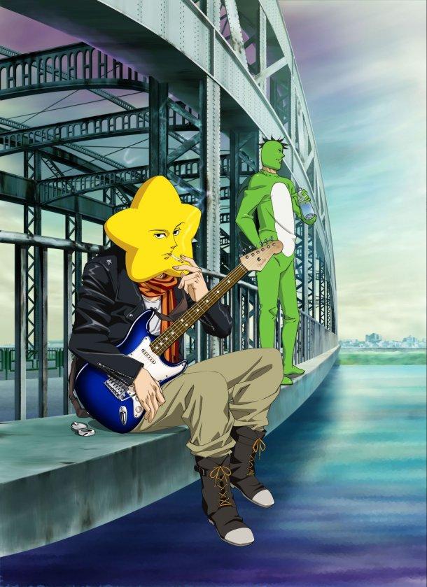Tags: Anime, Arakawa Under the Bridge, Kappa (Arakawa), Hoshi, Kappa, Mobile Wallpaper, Official Art
