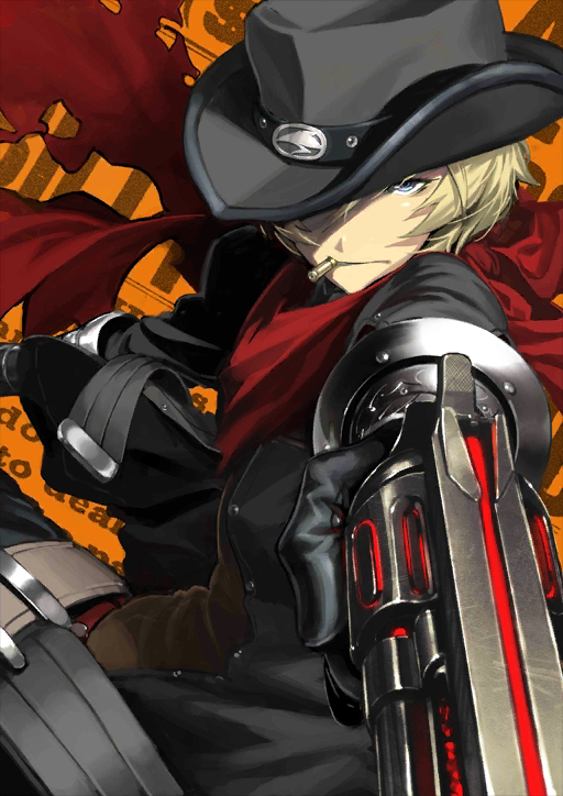 Tags: Anime, Shima Udon, DELiGHTWORKS, Fate/Grand Order, Archer (Billy the Kid), Official Card Illustration, Official Art