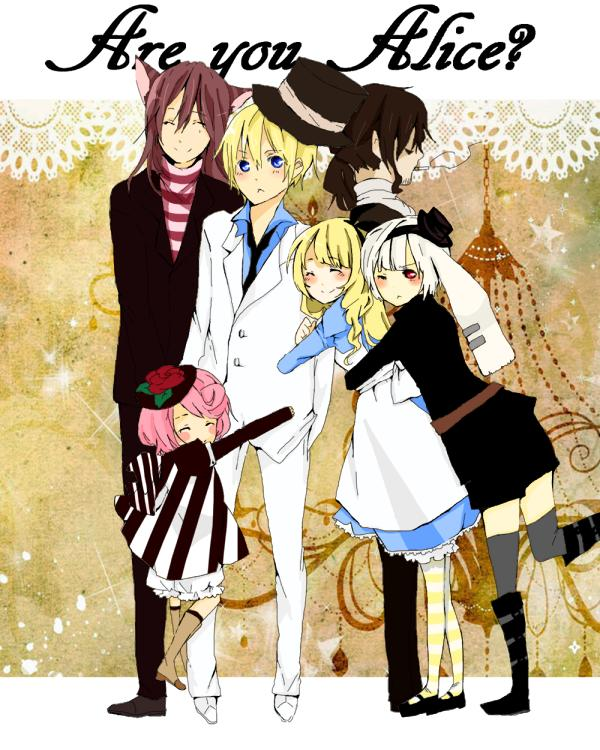 Tags: Anime, Are You Alice?, Mad Hatter (Are You Alice), Alice (Are You Alice), Cheshire Cat (Are You Alice), Marianne (Are You Alice), White Rabbit (Are You Alice)