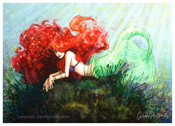 Tags: Anime, Disney, Little Mermaid, Little Mermaid (Disney), Ariel, One Eye Showing, Asymmetrical Bangs