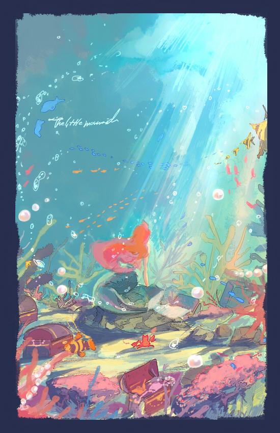 Tags: Anime, Gori Matsu, Little Mermaid, Little Mermaid (Disney), Ariel, Mobile Wallpaper