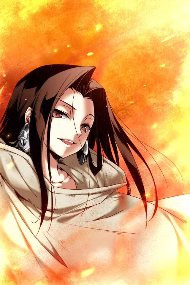 Tags: Anime, Jyuru, Shaman King, Asakura Hao, Pixiv, Mobile Wallpaper, Fanart