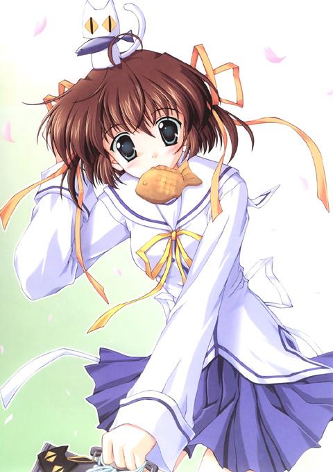 Tags: Anime, Da Capo, Utamaru (Da Capo), Asakura Nemu, Taiyaki, Official Art
