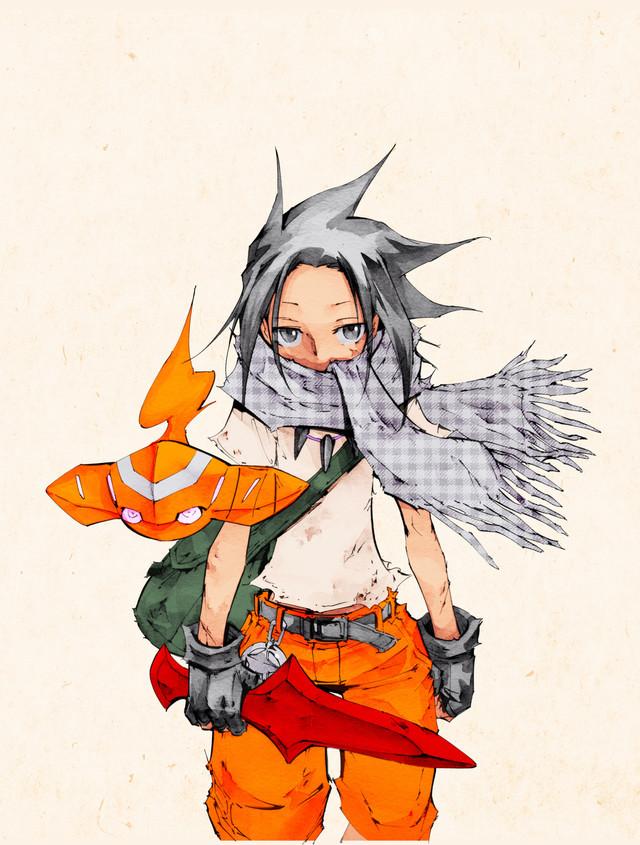 Tags: Anime, Hiroyuki Takei, Shaman King The Super Star, Shaman King, Asakura Yoh, Official Art