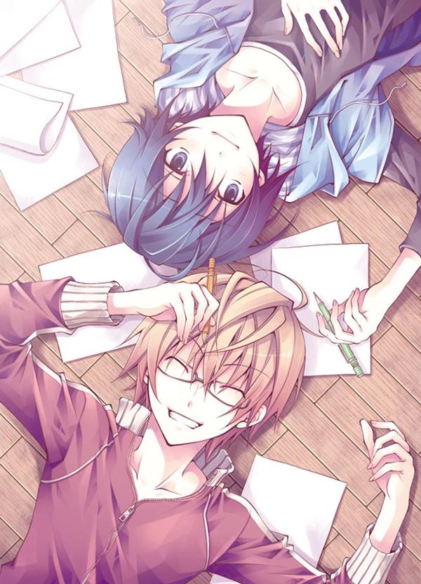 Tags: Anime, Seren (Seresere), Bakuman。, Takagi Akito, Mashiro Moritaka, Mobile Wallpaper, Ashirogi Muto