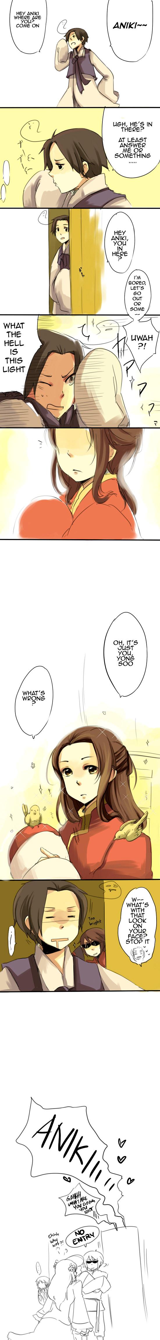 Tags: Anime, Ryo-hakkai, Axis Powers: Hetalia, South Korea, Japan, Taiwan, China, Hong Kong, Pixiv, Comic, Asian Countries