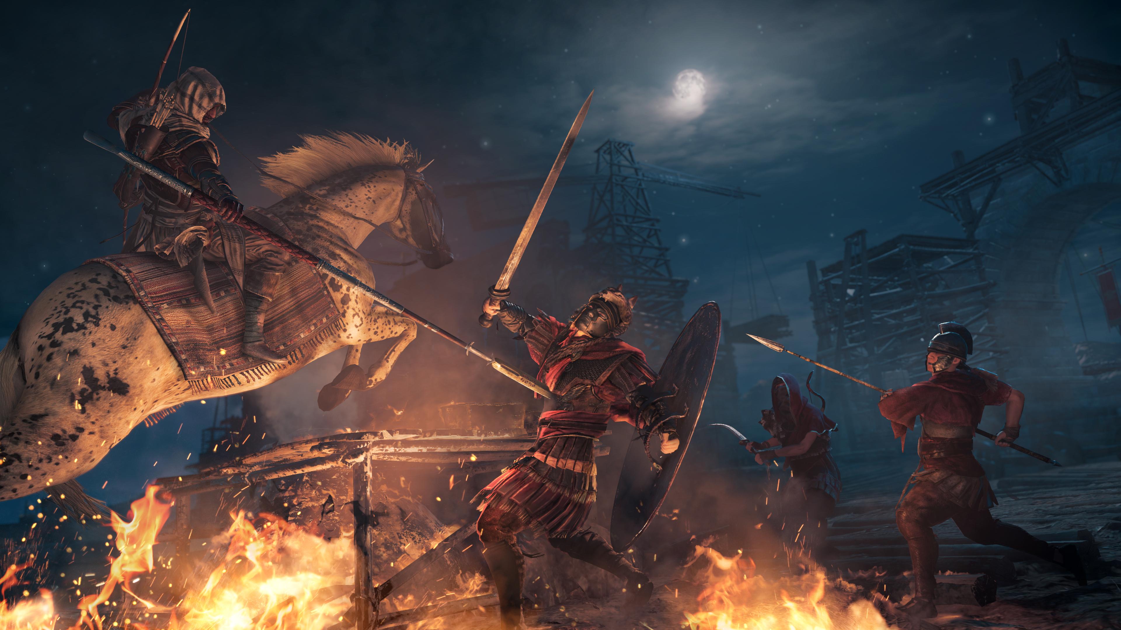 Assassin S Creed Origins Hd Wallpaper 2179000 Zerochan Anime
