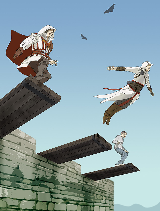 Tags: Anime, Doubleleaf, Assassin's Creed II, Assassin's Creed, Desmond Miles, Ezio Auditore Da Firenze, Altair Ibn La-Ahad, deviantART