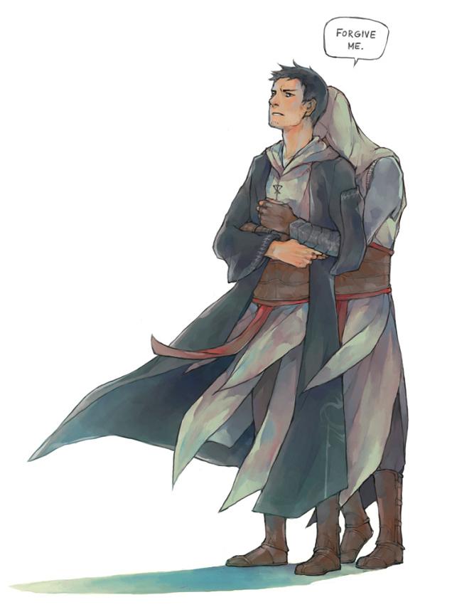 Tags: Anime, Lanimalu, Assassin's Creed, Malik Al-Sayf, Altair Ibn La-Ahad, Fanart, Tumblr