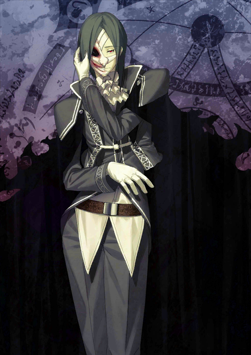 Tags: Anime, Shima Udon, DELiGHTWORKS, Fate/Grand Order, Assassin (Phantom of the Opera), Official Card Illustration, PNG Conversion, Official Art