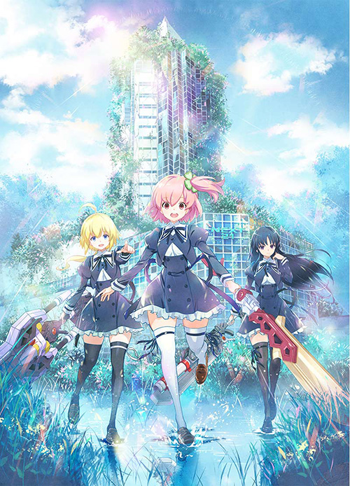 Tags: Anime, Hosoi Mieko, Shaft (Studio), Assault Lily Project, Assault Lily Bouquet, Amano Soraha, Shirai Yuyu, Hitotsuyanagi Riri, Official Art
