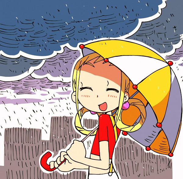 Tags: Anime, Rain, Ojamajo DoReMi, Asuka Momoko, Hair Rings, Pixiv Id 3391846, Twin Rings