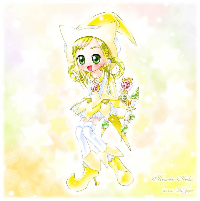 Tags: Anime, Yajin (Artist), Ojamajo DoReMi, NiNi (Ojamajo DoReMi), Asuka Momoko, Fanart