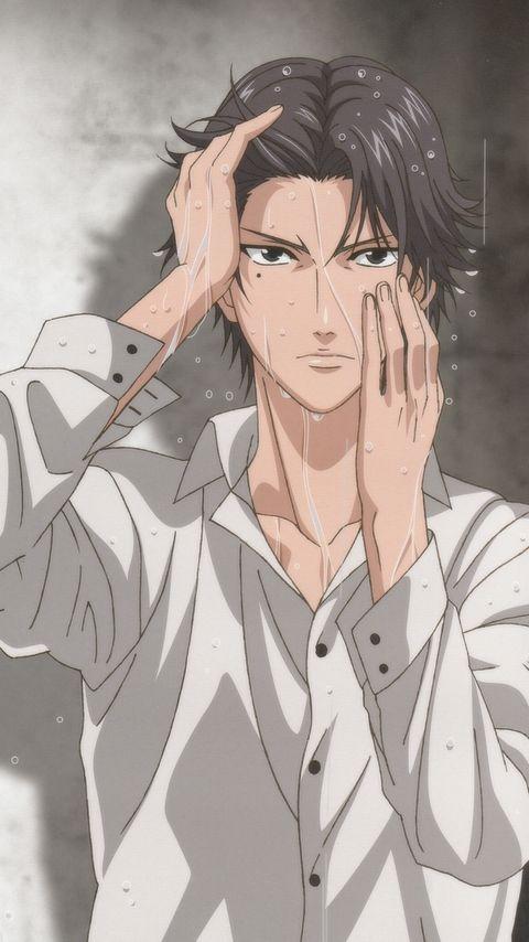 Tags: Anime, Tennis no Ouji-sama, Atobe Keigo, Mobile Wallpaper, Official Art, Hyotei Academy