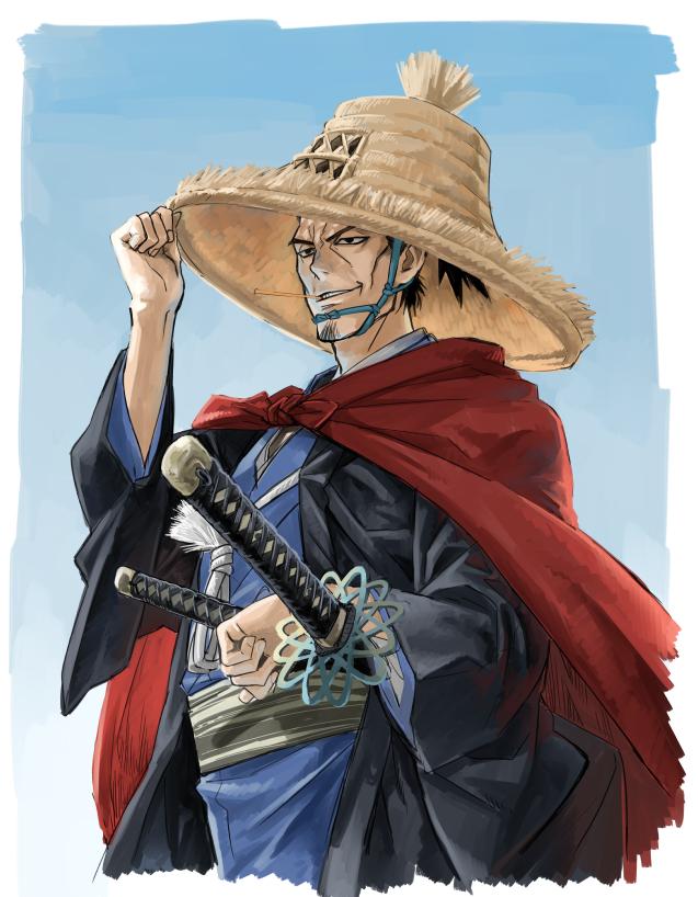 Tags: Anime, Meka, One Punch Man, Atomic Samurai, Shawl, Pixiv, Fanart, Fanart From Pixiv, PNG Conversion