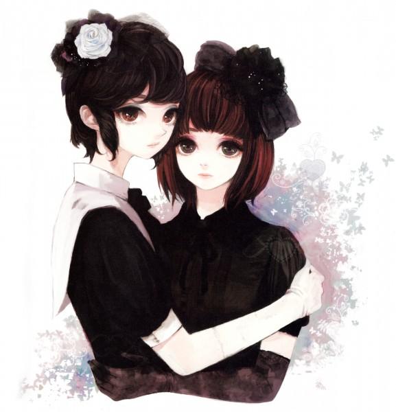 Tags: Anime, Atri (Pixiv 369356), Pixiv Girls Collection, White Flower, Lolita Fashion
