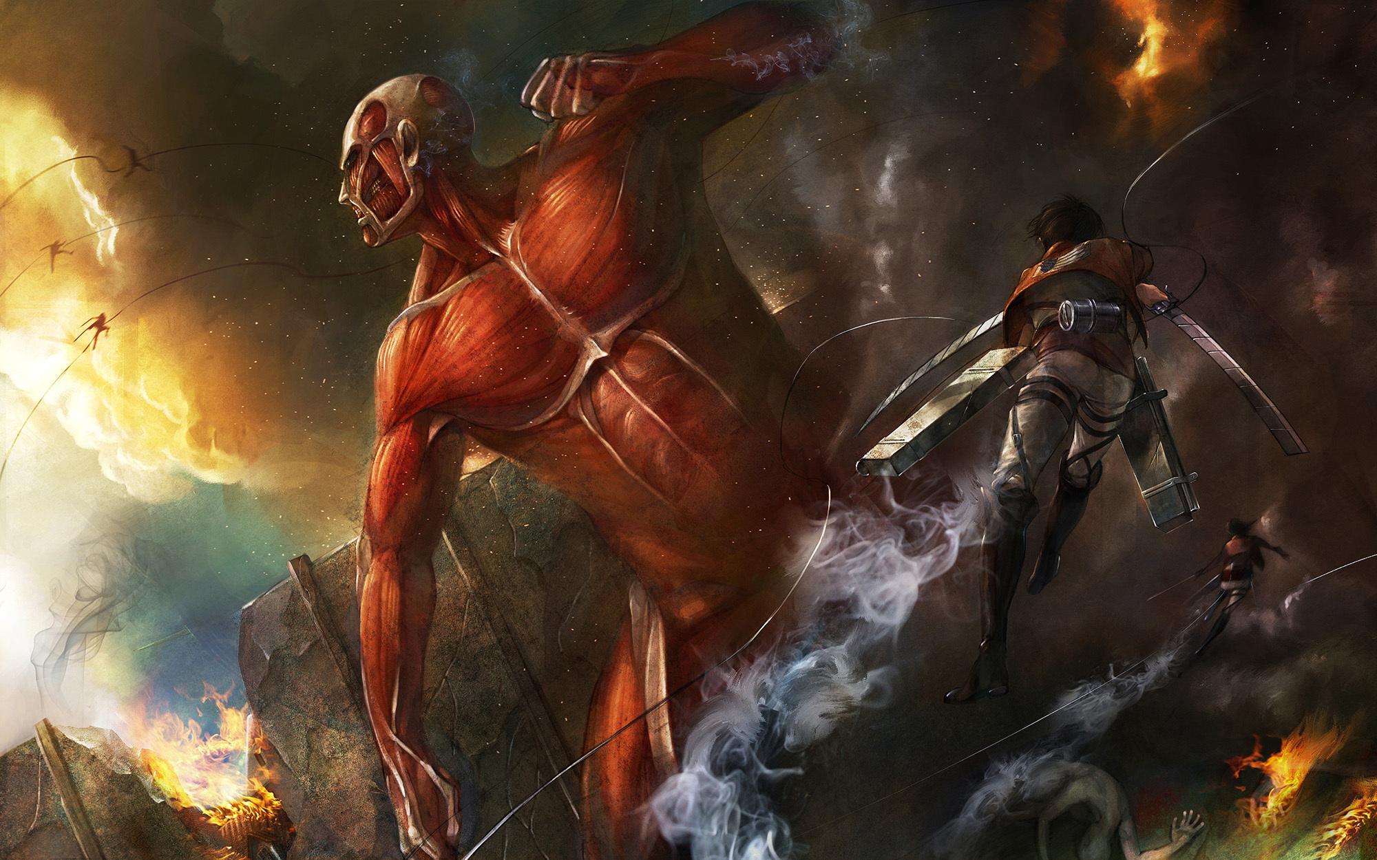Attack On Titan Hd Wallpaper 1484613 Zerochan Anime Image