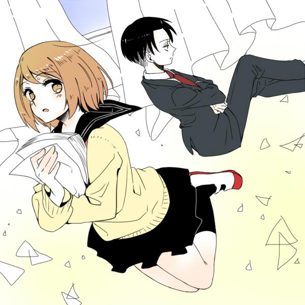 Tags: Anime, Tani (Pixiv 446857), Attack on Titan, Petra Ral, Levi Ackerman, Pixiv, Rivetra