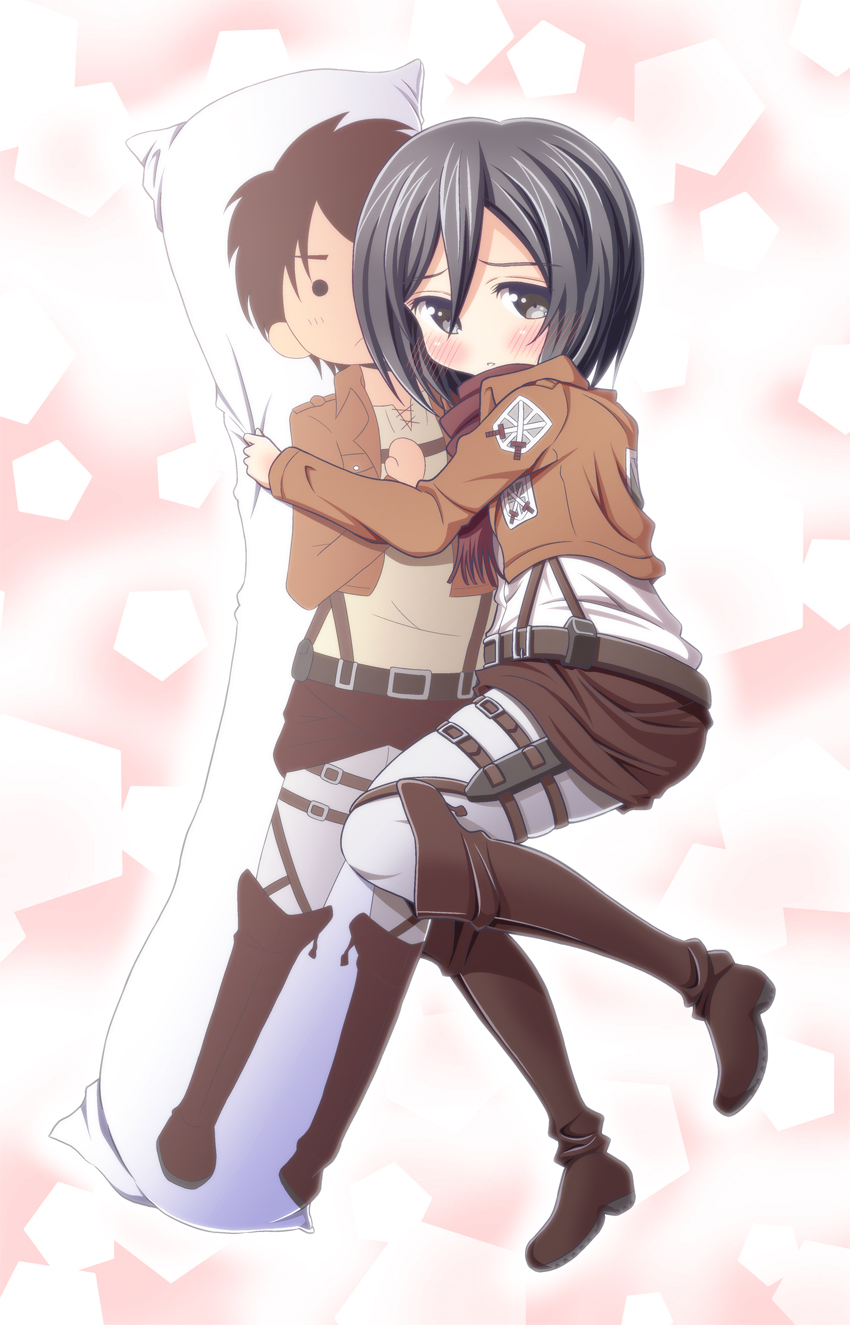 Variant possible attack on titan mikasa pillow are not