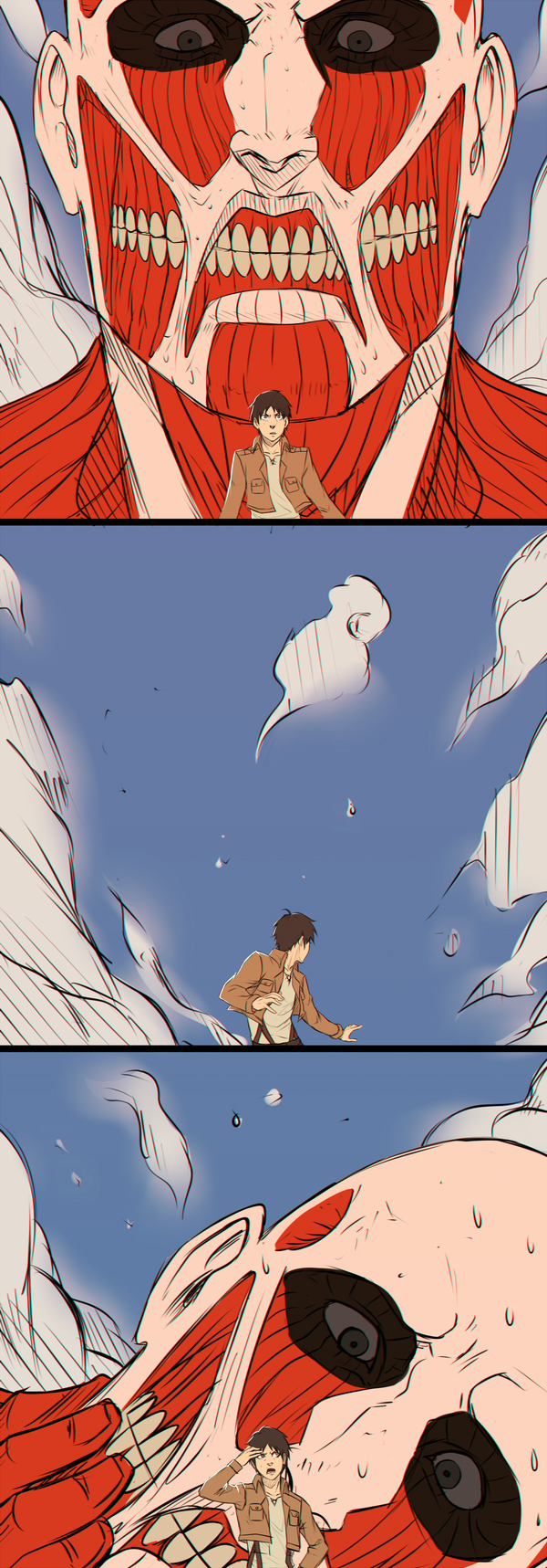 Tags: Anime, Pixiv Id 8160433, Moni158, Attack on Titan, Titan (Shingeki no Kyojin), Eren Jaeger, Colossal Titan, Comic, Pixiv