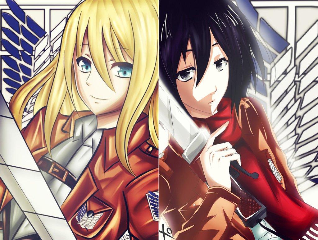 Tags Anime Attack On Titan Christa Renz Mikasa Ackerman