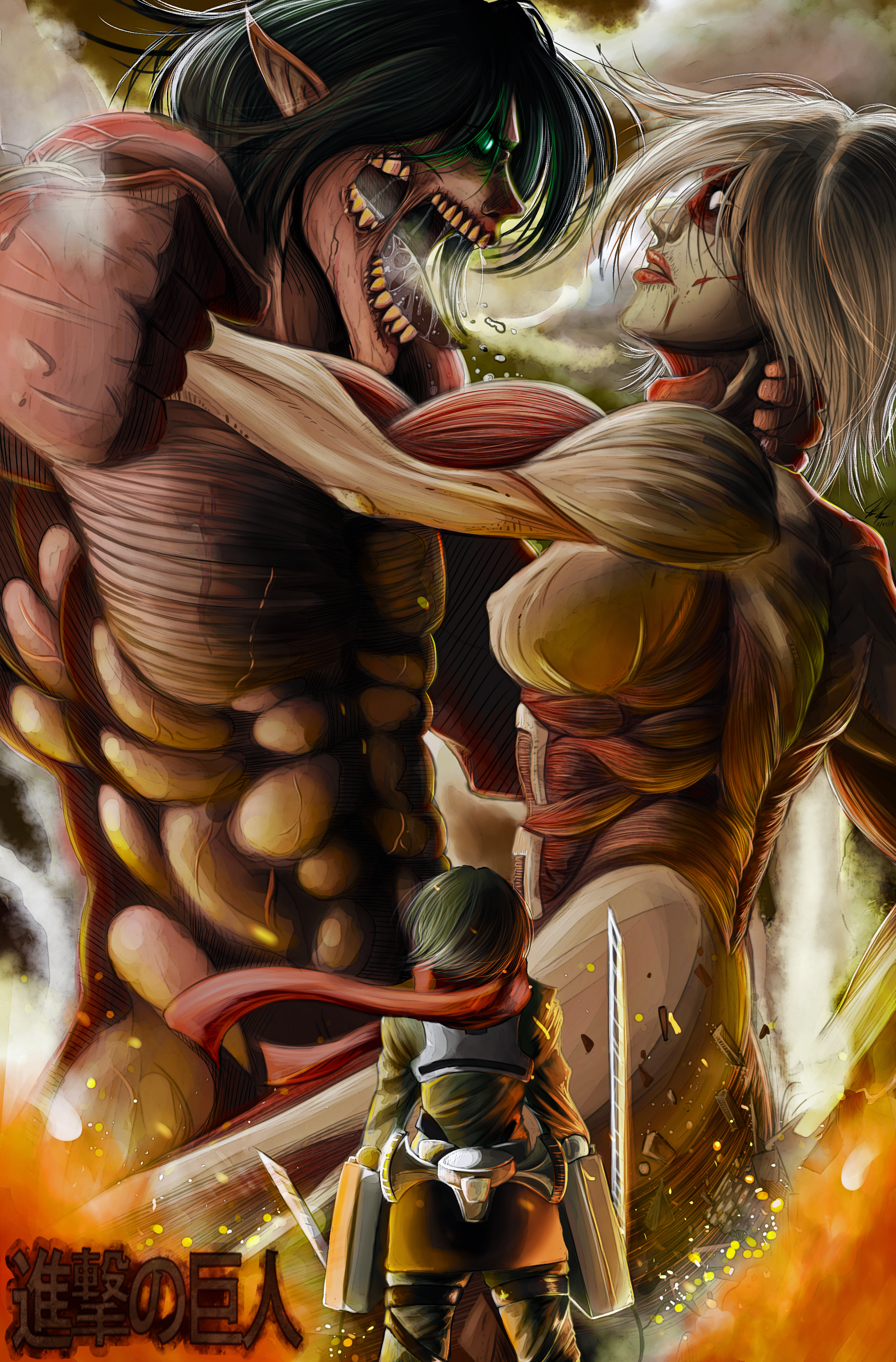 Attack On Titan Mobile Wallpaper 1751866 Zerochan Anime Image Board