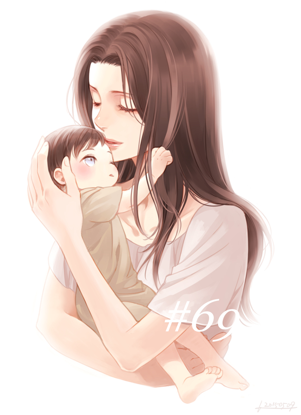 Tags: Anime, Pixiv Id 732682, Attack on Titan, Levi Ackerman, Kuchel Ackerman, Glowing Background, Holding Baby, Tumblr, Fanart From Pixiv, PNG Conversion, Mobile Wallpaper, Pixiv, Fanart