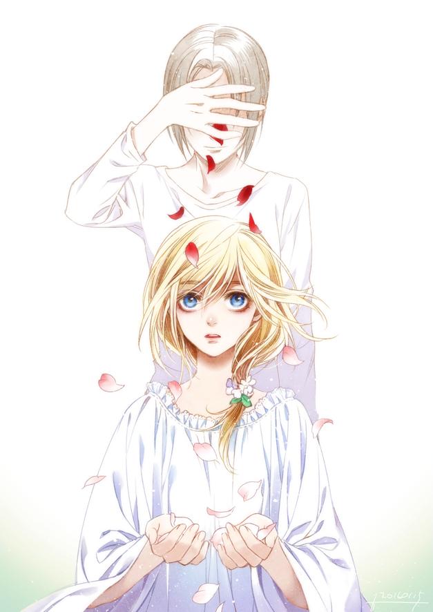 Tags: Anime, Pixiv Id 732682, Attack on Titan, Ymir (Shingeki no Kyojin), Christa Renz, Mobile Wallpaper, Fanart From Pixiv, PNG Conversion, Pixiv, Fanart, YumiKuri