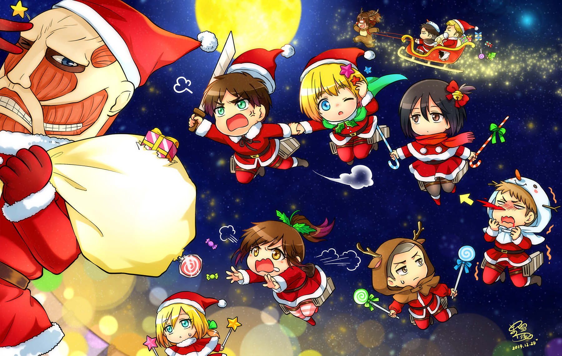 Attack On Titan Christmas Zerochan Anime Image Board