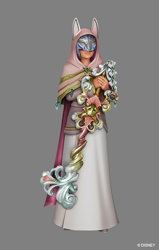 Tags: Anime, SQUARE ENIX, Kingdom Hearts χ, Kingdom Hearts, Ava, Keyblade, Covered Face, Official Art, 3D