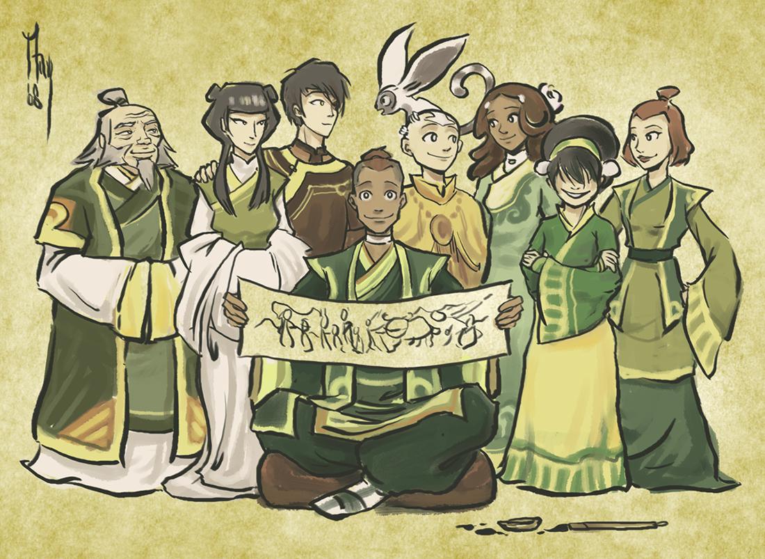 Tags anime ming85 avatar the last airbender sokka suki iroh